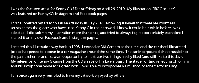 Kenny G Facebook Fan Art Friday Verbiage